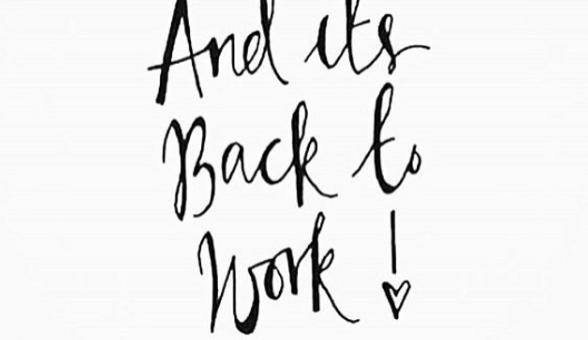 Praktijknieuws! Back to work!
